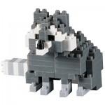 Brixies-58660 3D Nano Puzzle - Racoon
