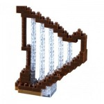 Brixies-58670 Nano 3D Puzzle - Harp (Level 1)