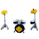 Brixies-58680 Nano 3D Puzzle - Drum Kit (Level 2)