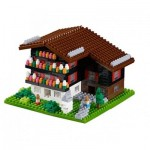 Brixies-58715 Nano 3D Puzzle - Swiss Mountain (Level 3)