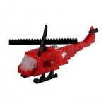 Brixies-58716 Nano 3D Puzzle - Schweizer Helikopter (Level 3)