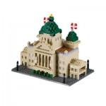 Brixies-58717 Nano 3D Puzzle - Bundeshaus Schweiz (Level 4)
