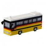 Brixies-58718 Nano 3D Puzzle - Swiss Postbus (Level 3)