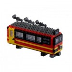 Brixies-58719 Nano 3D Puzzle - Swiss Train (Level 3)