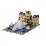 Brixies-58734 Nano 3D Puzzle - Musée du Louvre (Level 3)