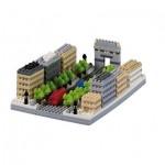Brixies-58735 Nano 3D Puzzle - Avenue Des Champs-Elysées (Level 3)