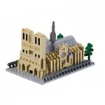 Brixies-58736 Nano 3D Puzzle - Notre-Dame Cathedral (Level 5)