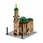Brixies-58755 Nano 3D Puzzle - Frankfurter Paulskirche (Level 4)