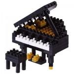 Brixies-58774 Nano 3D Puzzle - Piano (Level 3)