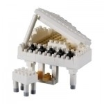 Brixies-58775 Nano 3D Puzzle - Piano (Level 3)