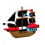 Brixies-58788 Nano 3D Puzzle - Pirate Ship (Level 4)