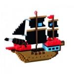 Brixies-58788 Nano 3D Puzzle - Pirate Ship (Level 4)