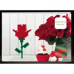 Brixies-58815 3D Puzzle - Postcard Flower