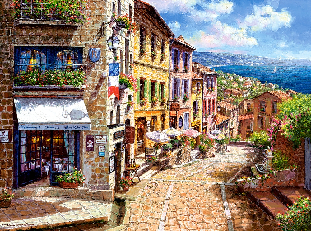 puzzle afternoon in nice castorland 300471 3000 pieces jigsaw puzzles towns and villages. Black Bedroom Furniture Sets. Home Design Ideas