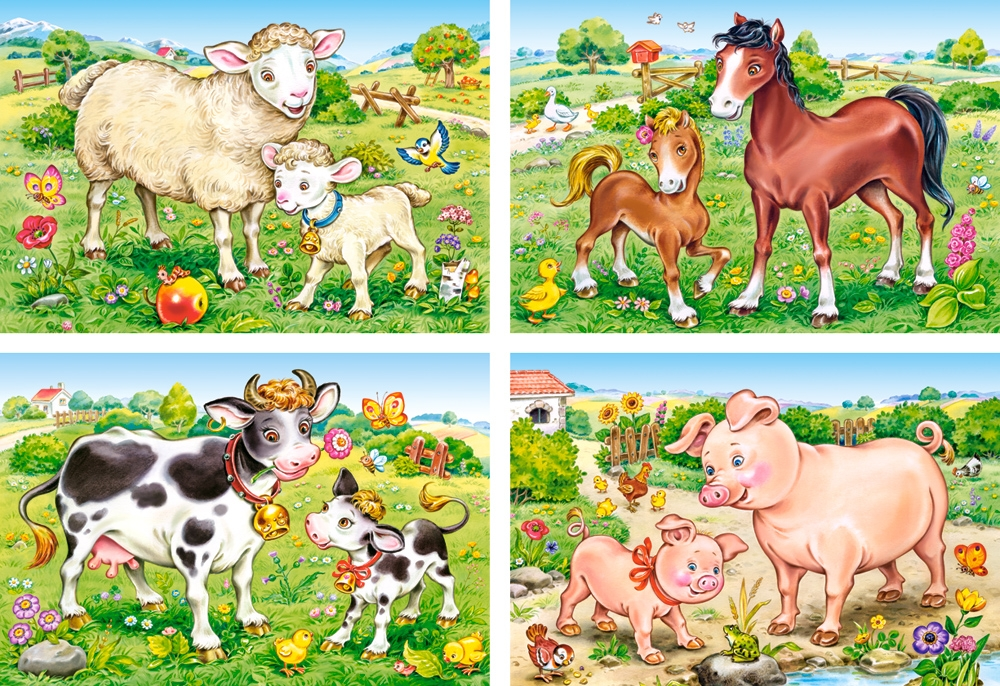 Puzzle Animal Moms And Babies Castorland B 04416 8 Pieces