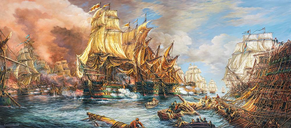 puzzle battle at the sea castorland060252 600 pieces