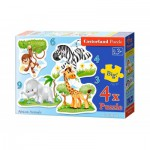 Castorland-005017 4 Jigsaw Puzzles - XXL Pieces - African Animals