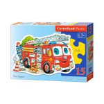 Puzzle  Castorland-015078 Fire Engine