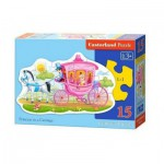 Puzzle  Castorland-015122 Princess in a Carriage