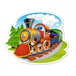 Puzzle  Castorland-015153 Steam Train