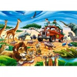 Puzzle  Castorland-018390 Safari Adventure