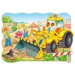 Castorland-02139 Jigsaw Puzzle - 20 Maxi Pieces : Bulldozer in Action