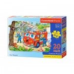 Castorland-02146 Jigsaw Puzzle - 20 Maxi Pieces : Firemen