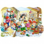 Castorland-02207 Jigsaw Puzzle - 20 Pieces : Snow-White and the Seven Dwarfs