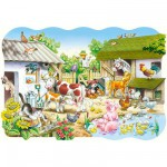 Castorland-02214 Jigsaw Puzzle - 20 Maxi Pieces : The Farm