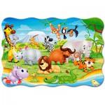 Puzzle  Castorland-02276 XXL Pieces - African Animals