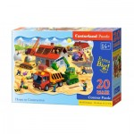 Puzzle  Castorland-02412 XXL Pieces - House in Construction