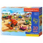 Puzzle  Castorland-02436 XXL Pieces - Work in the Farm
