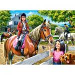 Puzzle  Castorland-030095 Horse Riding
