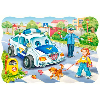 Puzzle Castorland-03389 The road to school