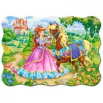 Puzzle  Castorland-03617 The Princess and her Horse