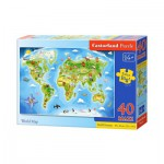 Puzzle  Castorland-040117 XXL Pieces - World Map