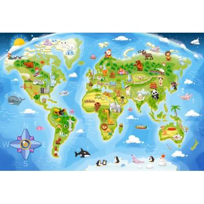 Puzzle xxl pieces world map castorland 040117 40 pieces jigsaw puzzle xxl pieces world map castorland 040117 40 pieces jigsaw puzzles world maps and mappemonde jigsaw puzzle gumiabroncs Images