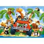 Puzzle  Castorland-040131 XXL Pieces - Softies on Safari