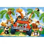 Puzzle  Castorland-040131 XXL Pieces - Softies on Safari