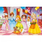 Puzzle  Castorland-040162 XXL Pieces - Princess Party