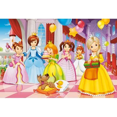 Puzzle Castorland-040162 XXL Pieces - Princess Party