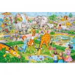 Puzzle  Castorland-040179 XXL Pieces - Zoo