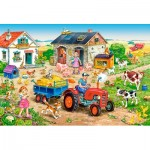 Puzzle  Castorland-040193 XXL Pieces - Life on the Farm