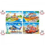Puzzle  Castorland-041015 XXL Pieces - Travel The World