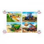 Puzzle  Castorland-041039 XXL Pieces - Agricultural Machines