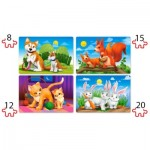 Puzzle  Castorland-041046 XXL Pieces - Lovely Animals