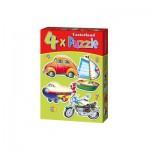 Castorland-04232 4 Puzzles - Post Transportation