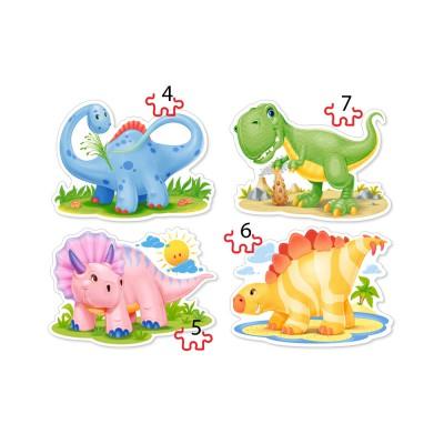 Puzzle Castorland-04386 Baby Dinosaurs