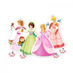 Puzzle  Castorland-04409 Pretty Princesses