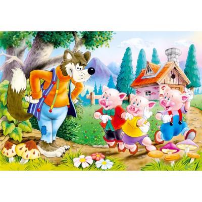 Puzzle Castorland-06519 The 3 little pigs